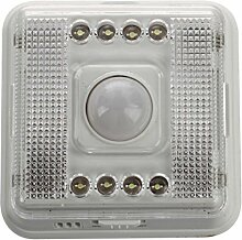 SODIAL(R) 3X 8 LED Nachtlicht Lampe Bewegungsmelder Sensor Weissue20?¡ã