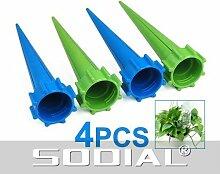 SODIAL (R) 4 x Gartenbewaesserung Geraet Pflanzen fuer Ferien Flasche Bewaesserungssystem