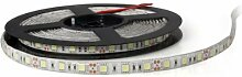 SODIAL(R) 5M 5050SMD 300 LED Leiste Strip Band Streif weiss mit Mini FB wasserdicht Deko