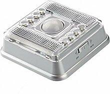 SODIAL(R) Automatisch Wireless 8 LEDs Lampe Licht mit PIR Sensor Bewegungsmelder Infraro