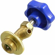 SODIAL(R) Blauer Kunststoff Kappe 17mm Gewinde R134 Kaeltemitteldosierung Ventiloeffner