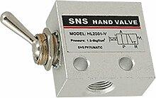 SODIAL(R)C-Stahl Knob Pneumatische Schaltventil HL-2301-V