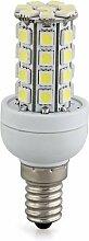 SODIAL(R) E14 7W 36 LED 5050 SMD Mais Birne Lampe Spotlicht Strahler Wei? AC 220V