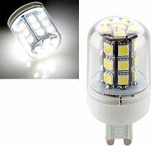 SODIAL(R) G9 5W 27 LED 5050 SMD Mais Birne Lampe Spotlicht Strahler Weiss AC 220V