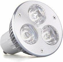 SODIAL(R) GU10 3W 3 LED High Power Lampe Spot Licht Birne Leuchte DC 12V Warmweiss