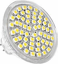 SODIAL(R) MR16 LED 60 SMD Spot Lampe Strahler Leuchte Leuchtmittel Warmweiss 12V 2,5W