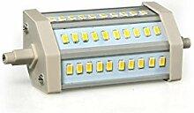 SODIAL(R) R7S/J118 Dimmbar 30 5630 SMD LED Lampe 12W Licht Birne Leuchtmittel Warmweiss