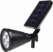 SODIAL(R)solarbetriebene Laterne lampe mit 4pcs White LED Polykristalline Solarkollektor wiederaufladbar Wasserdicht Umweltfreundliche LED-Leuchtmittel fuer Rasen Garten Yard
