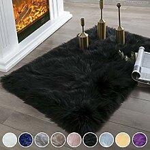 SODKK Carpet Schwarz 70 x 110 cm Hochflor Teppich,