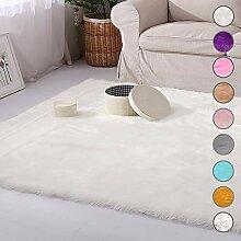 SODKK Carpet Weiß Wohnzimmer Carpet 200x300cm,