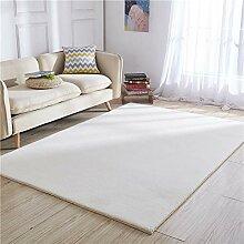 SODKK Runder Teppich Rechteck 110x140cm Weiß