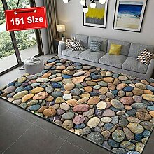 SODKK Teppich 3D Steinmuster Teppichbodenmatte