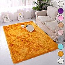SODKK Teppich Rund Orange Teppich Design