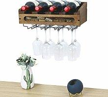 SODUKU Wandmontiertes Weinregal aus Holz, für 4