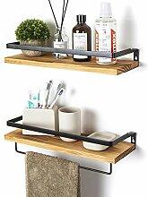 SODUKU Wandregale für Küche, Badezimmer, 2