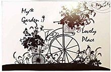 Soefipok Altmodisches Fahrrad und Korb der Blumen