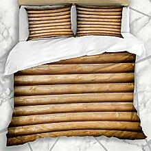 Soefipok Bettbezug-Sets Rough Brown Cabin