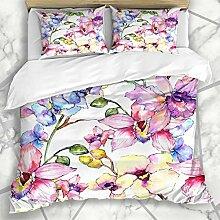 Soefipok Bettbezug-Sets Wildblumen Wildblumen