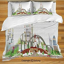 Soefipok Fantasy Decor Bettwäsche Bettbezug Set,