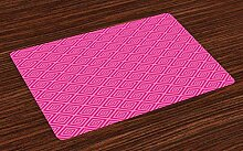Soefipok Hot Pink Tischsets, dunkler gefärbte