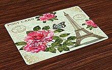 Soefipok Paris Tischsets, Shabby Chic romantische