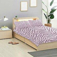 Soefipok Zebra Bettbezug Set Zebra Fell Textur
