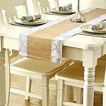 SOEKAVIA Tischläufer Jute Tischband mit Lesbie