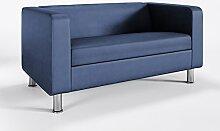 Sofa 2-Sitzer Club Büro Bar Hotel Designer Polster modernes Kunstleder CUBBY 4N, Farbe:Lavendel - 107-3001