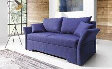 Sofa 2-Sitzer mit Schlaffunktion HANNAH Webstoff