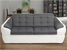 Sofa 2-Sitzer Stoff Farez - Weiß&Grau
