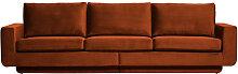 Sofa 3-Sitzer Fame Vintage Samt rostfarben