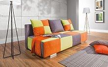 Sofa 3-Sitzer mit Schlaffunktion EMILIA aus
