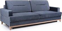 Sofa 3-Sitzer Schlafsofa LUNA Stoff Grau