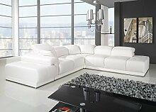 Sofa » ASTON « Elegante Wohnlandschaft inkl. Schlaffunktion