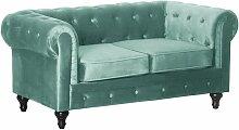Sofa aus Samt Aliza Chesterfield - 2 Sitzer -
