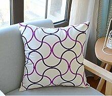 Sofa Backrest Large Pillow Pillow,Pillow Cushion-B 45x45cm(18x18inch)VersionA