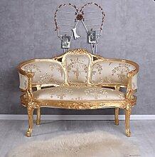 Sofa Barock Liege Sofabank Couch Barocksofa Gold