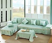 Sofa Baumwollbezug/Sofa-kissen/Vier Jahreszeiten Schlüpfen Sofa Stoff Servietten-F 210x350cm(83x138inch)