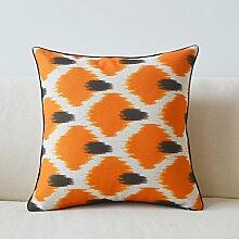 Sofa Baumwolle Hanf Kissen Kissen Bett Taille Taille Kissen Kissen Kissen mit dem Kern ( farbe : B )