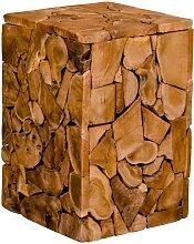 Sofa Beistelltisch aus Teak Massivholz rustikalen