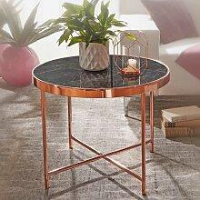 Sofa Beistelltisch in Kupferfarben runder