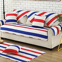 Sofa bezug baumwolle,Dichten gesteppte anti-rutsch beweis bunte dekorative sofa slipcover staubschutz für living room four seasons-B 70x180cm(28x71inch)