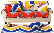 Sofa bezug baumwolle,Dichten gesteppte anti-rutsch beweis bunte dekorative sofa slipcover staubschutz für living room four seasons-A 110x180cm(43x71inch)