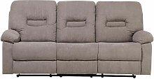 Sofa Braun-Grau Polsterbezug 3-Sitzer