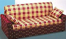 Sofa Classic bereit Bett Uni Size mit bequemen Armlehnen seitliche