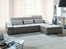 Sofa » CORFU « Elegante Wohnlandschaft inkl. Schlaffunktion