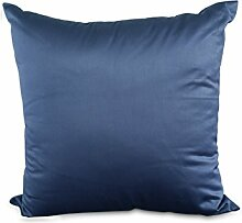 Sofa Cushion Cover,Pure Color Satin Pillow-L 45x45cm(18x18inch)VersionA