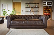 Sofa Dark Chesterfield vintage
