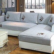 Sofa deckt schnitt,Baumwoll-leinen sofa handtuch Sofa-matte Universal-set vier jahreszeiten Einfache moderne wohnzimmer Fabric seat cover Rutschfeste abdeckung Möbel protector-G 90x240cm(35x94inch)