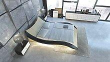 Sofa Dreams Design Lederbett Frankfurt mit LED